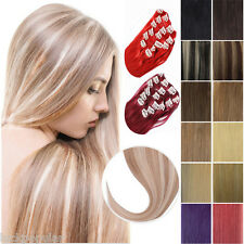 Clip in Human Hair Extensions 15''-24'' 7Pcs Straight Remy Hair Any Colors Style