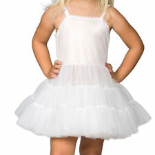 Girls White Bouffant Full-Slip Petticoat - Extra Full, (2T - 14)