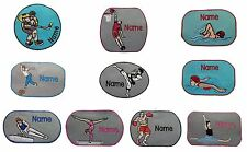 Indoor Sport Sew on/Iron on/Sticker Personalised embroidered name badge patch