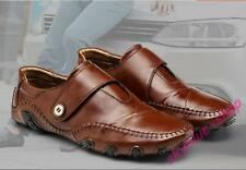 Mens New PU Leather Strap Driving Flats Loafers Moccasins Casual Dress Shoes New