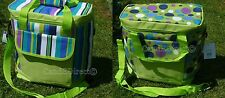 Spots Stripes Large 20 L Insulated Cool Bag Shopping Beach Picnic FREE ICE PACK