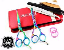 "5.5""Professional Hair Cutting Scissors Set Hairdressing Thinning Scissors Barber"