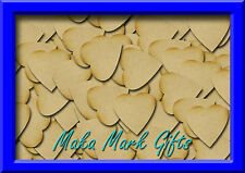 MDF Heart Shapes, 3mm thick, 10mm to100mm available sizes