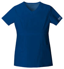 Cherokee Workwear Scrub Short Sleeve Top 24703 GABW Galaxy Blue Free Shipping