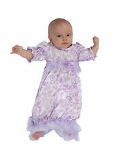 Laura Dare Lovely Lavender Frilly Sacque (NB - 6m)
