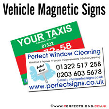 Magnetic Vehicle Signs Digitally Printed Car Magnet Full Colour 1000mmX300mm X 2