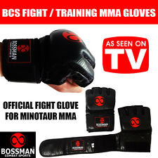 BCS MMA GLOVES - fight training drills mixed martial arts LEATHER