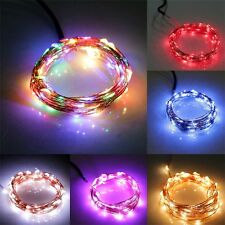 10M/33FT 100LED Copper Wire Xmas Wedding Party String Fairy Light DC 12V HPE