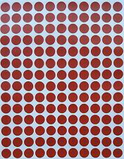 Brown 3/8 inch 10 mm Color coding small labels rounded circle Stickers dots pack