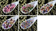20g Mix Multicolor Czech Glass Round Seed Beads 9/0 PRECIOSA Pearls Rocaille Spa