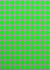 Neon Green Color Coding Stickers 10mm 3/8 inch labels round circular small dots