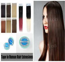 16''-24'' Seamless Tape In Skin Weft Remy Human Hair Extensions Brazilian Hair