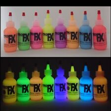 Glow in the Dark Daytime Visible Fabric Paint 8 Color Set, Neon, Fluorescent