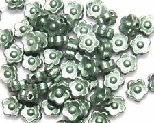CLearance 40 Grams ca. 600 Green/Teal 7mm Plastic Flower Beads Decoration Button