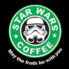 StarWars Coffee May The Froth Be With You Funny Mens Ladies T-Shirts Vest S-XXL