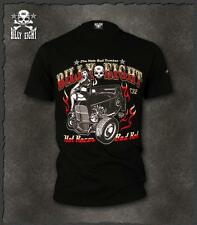 "Mens-rockabilly-greaser-psychobilly-biker-punk-Billy Eight ""Hot Rod"" T shirt"