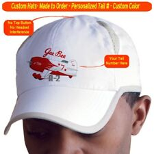 Gee Bee R-2 Cap Custom Airplane Pilot Hat - Personalized with Your N#