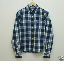 Hollister shirt size Small blue white checked gingham western long sleeves