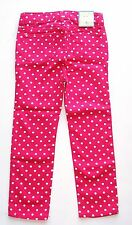 Baby Gap girls polka dot skinny jeans/pants front zip & dotted snap  size 4 NWT