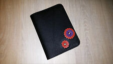 100% Real Genuine Leather Cover Spiral Notebook A6 Flowers Diary REFILLABLE