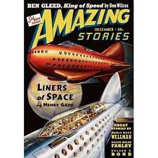 NEW! Amazing Liners Of Space Sci Fi Magazine Cover Poster Home Decor Wall Art