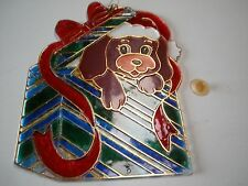 CHRISTMAS DECOR. CRYSTALLINE WINDOW DECORATION STAINED WINDOW GLASS-LOOK.
