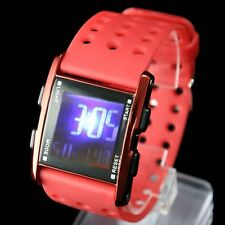 DW330A Red Watchcase Chronograph Date BackLight Red Bezel Boy Girl Digital Watch
