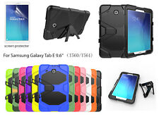 """For Samsung Galaxy Tab E 9.6"""" Heavy Duty Shock Proof case/Screen Protector"""