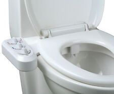 Self Cleaning Hot Cold Water Bidet Dual Nozzle Non Electric Toilet Attachment