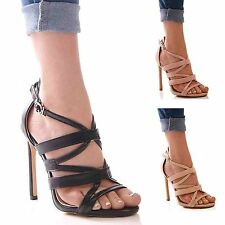NEW LADIES WOMENS HIGH HEELS SUMMER HOLIDAY FORMAL PARTY EVENING SHOES SIZE 3-8
