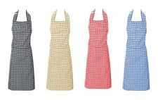 Country Styled Gingham Check Kitchen Apron – Assorted Colours New