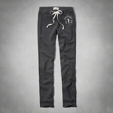 NWT Abercrombie&Fitch Women's A&F Skinny Sweatpants Burgundy/Grey XS/L
