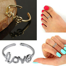 Charming Simple Love Toe Ring Celebrity Open Adjustable Foot Beach Ring Jewelry