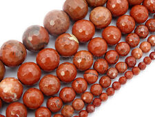 Natural Red Jasper Gemstone Faceted Round Loose Beads 16'' 4mm 6mm 8mm 10mm 12mm
