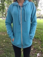 NWT Roxy Womens Groovy Song Zip up Hoodie Sweatshirt Lake Blue