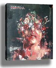 BORONDO ROSE HEAD LONDON GRAFFITI STREET ART HIGH QUALITY CANVAS PRINT