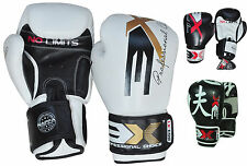 MMA Leather Boxing Gloves Muay Thai Kick Boxing Training Grappling Sparring