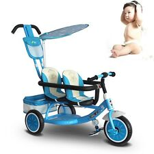 New Toddler Twins Stroller Double Seats Kids Baby Safe Trike Ride-On Pram Buggy