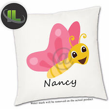 Personalised Butterfly  Cushion Cover.Add your own text-ILVC 1115