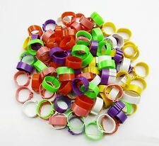NEW 100PCS Poultry Leg Bands Bird Chicks Ducks Clip-on Rings 6 Colors