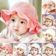 1Pc Toddler Summer Sun Cap Outdoor Sweet Baby Girls Flower Sun Beach Bucket Hat