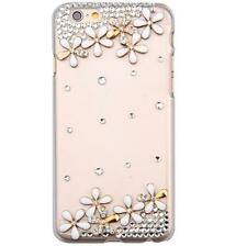 New Bling Diamond Rhinestone Flowers Clear Hard Back Case Skin Cover For Samsung