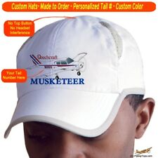 Beechcraft Musketeer Cap Custom Airplane Pilot Hat - Personalized with Your N#