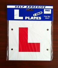 2 x L Plate Learning Plates Self Adhesuve Car Plates Exterior Secure & Safe