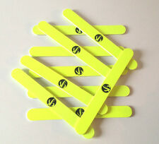 240/240 Grit Nail Files for Natural Nails NEON YELLOW by SB Various Quantities!!