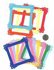 """Frame Die Cuts - Square Ruffle Corner Frame Die Cuts - any color, 4"""" x 4"""""""