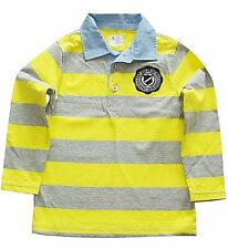 Baby Gap  boys long sleeved polo striped contrast collar shirt sizes 4 & 5 NWT