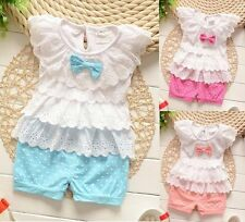 Baby clothes infant baby girls clothing 2pc summer clothes layered top&pants