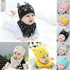 Popular Cartoon Owl Stars Cotton Hat New Born Kid Baby Unisex Soft Hedging Cap