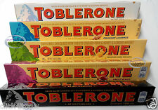 Toblerone Swiss Chocolate Milk White Dark Crunchy Almond Fruit & Nuts Bar 100g